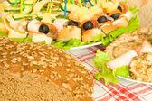Tohumlar, et ve kanepe ekmeği — Stok fotoğraf