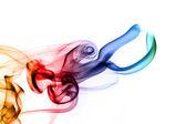 Abstraction des fumées colorées lumineuses — Photo