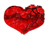 Broken Heart - unrequited love, death, disease or pain — Stock Photo