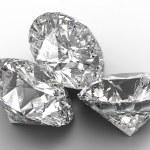 Group of Three large diamonds — Stock Photo #3305239