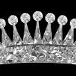 Side view of gemstone crown over black — Foto Stock