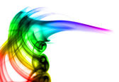 Abstract colorful puff of smoke — Stock fotografie