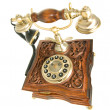 Top side view of antique telephone — Stock Photo