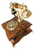 Communication Old-fashioned telephone isolated — Stock Photo