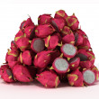Pile or Heap of Dragon Fruit over white — Stock Photo #3488034
