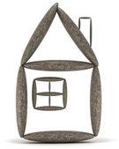 Ev ve konut istikrar kavramı — Stok fotoğraf
