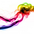 Gradient colored smoke Abstract over white — Stock Photo #3550597