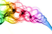 Formes de fumées colorées magique — Photo