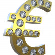 3D Euro symbol incrusted with diamonds — Stock Photo #3583392