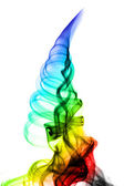Abstract colored fume swirl on white — Стоковое фото