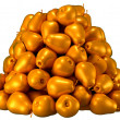 Pile or Heap of golden pears — Stock Photo