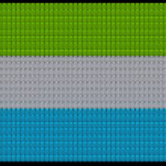 Sierra Leone flag assembled of diamonds — Stock Photo #3695027