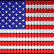 USA flag assembled of diamonds - 图库照片