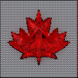 Canada flag assembled of diamonds - 图库照片
