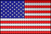 USA flag assembled of diamonds — Stock Photo