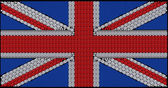 Great Britain Flag Union Jack assembled of diamonds — Stock Photo