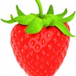 One large strawberry isolated over white — Stock Photo