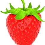 One large strawberry isolated over white — Stock Photo