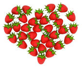 Red Strawberry shaped heart — Stock Photo