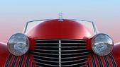 Vista frontal do carro retrô vermelho — Fotografia Stock