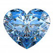 Royalty-Free Stock Photo: Heart shaped diamond isolated on white