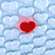 Royalty-Free Stock Photo: Love concept. Red heart among ice