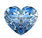 Heart shaped diamond isolated on white — Stock Photo