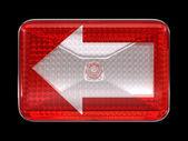 Left direcion arrow button or headlight — Stockfoto