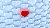 Love concept. Red heart among ice — Stock Photo
