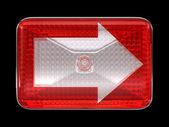 Right direcion arrow button or headlight — Stock Photo