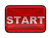 赤いボタンまたはヘッドライトを開始します。 — ストック写真