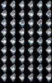 Collage - side views of diamonds — Stock Photo