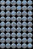 Collage - Top views of diamonds — Stock Photo