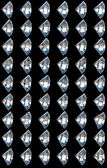 Collection Side views of diamonds — Stock Photo