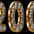 Golden 200 numeral incrusted with diamonds — Stock Photo #3825891