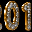 Golden 2011 year incrusted with diamonds — ストック写真 #3825968