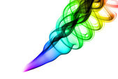 Abstract colored smoke shapes — Stockfoto