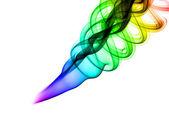 抽象彩色烟雾形状 — 图库照片