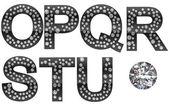 Diamant-o-u-Briefe mit großen gem — Stockfoto