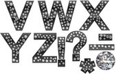 Diamond V-Z letters with punctuation marks — Stock Photo