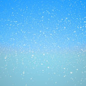 Snowflakes and blue sky — Stock Photo