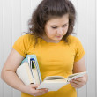 Young woman reading a book — Stock Photo #2753477