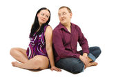 Man and pregnant wife — Stock Photo