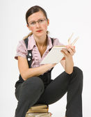 Girl with a book — Stock Photo