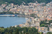 Houses and promenade of Rapallo, famous small town in Liguria, near Genova, Italy — Stock Photo