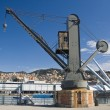 Genova , old port crane - Stock Photo