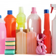 Plastic detergent bottles — Stock Photo