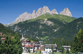 Alba di Canazei, val di Fassa — Stock Photo