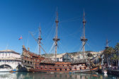 Olg galleon — Stock Photo