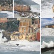 Camogli sea storm collection — Stock Photo